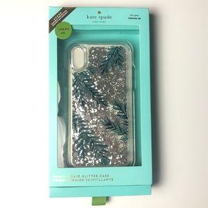 Kate Spade IPhone XR Clear Glitter Case New in Box